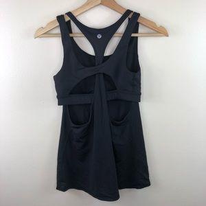 Lululemon Athletica Black Tank Top Size 6